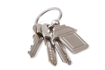 three key and keychain
