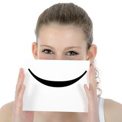 "Teenager mit Emoticon ""Smile"""