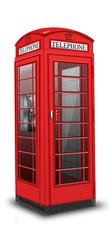 rote, britische Telefonzelle freigestellt