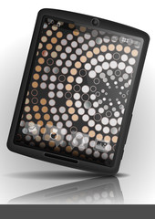Tablet Pc With Mosaic Wallpaper.