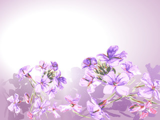 Background with floral motif. Vector illustration