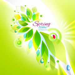 Spring time floral background