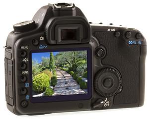 jardin provençal sur appareil photo reflex numérique