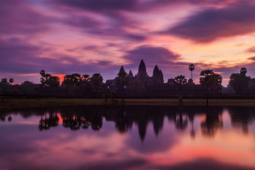 Wall Mural - Angkor Wat - famous Cambodian landmark - on sunrise