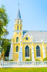 Wat Niwet Thammaprawat Temple Church in ayutthaya Thailand
