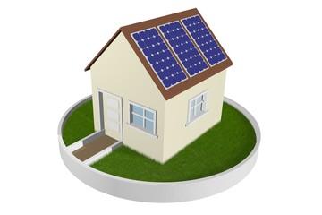 Maison panneau photovoltaïque