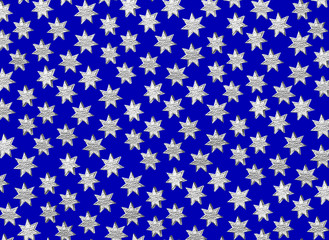 Star pattern on blue