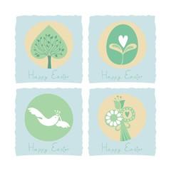 Easter set with seasonal symbols
