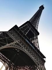 Eiffel Tower Paris angled shot