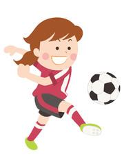 サッカー シュート 女性