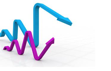 3d business arrows..