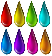 Colourful droplets