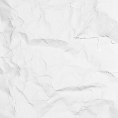White paper sheet. Paper texture background. Texture of crumpled