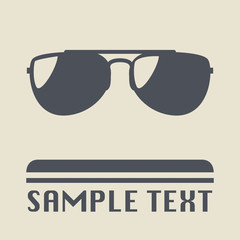 Sunglasses icon or sign, vector illustration