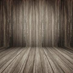 Fototapete - Brown wooden room background