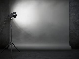 photo studio in old grunge room