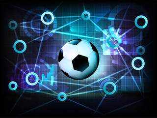 soccer ball in business world transfer network vector