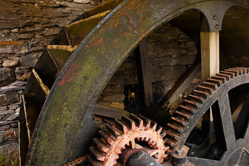 Aluminium Prints Mills Water Mill Wheel workings