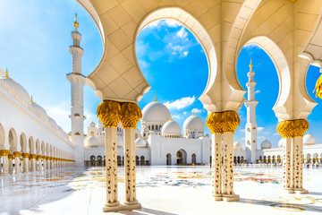 Photo sur Plexiglas Abou Dabi Sheikh Zayed Mosque