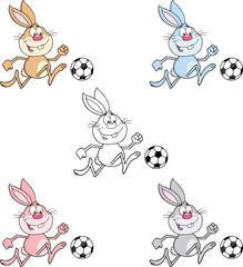 Rabbit Cartoon Character 10. Set Collection