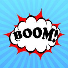 Boom vector poster