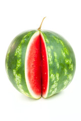 One notched striped watermelon