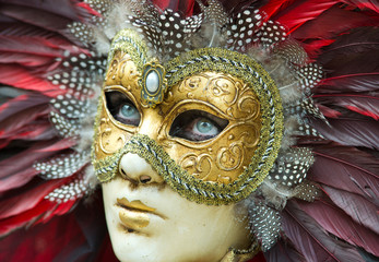 Wall Mural - Carnival mask in Venice
