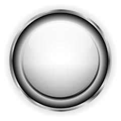 White glass button