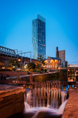 Wall Mural - Beetham tower roachdale canal