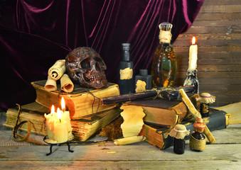 Halloween image of warlock objects