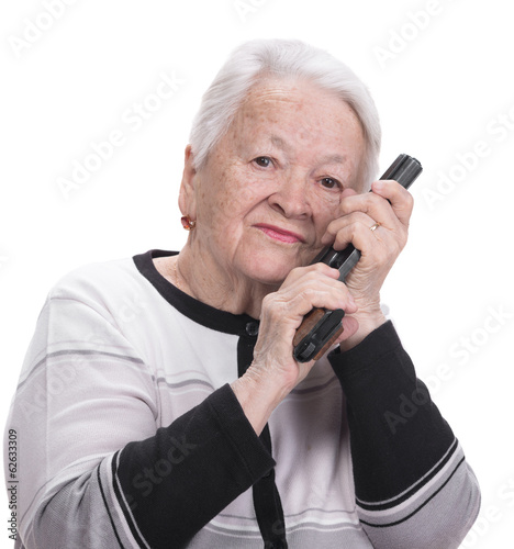 """""""Old Woman With Pistol"""" Stock Photo And Royalty-free"""
