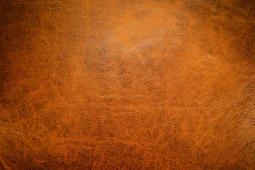Brown leather textured background with side light. Wall mural