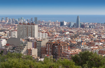 View of Barcelona from Mount Tibidabo