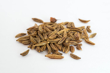 Cumin pile in lateral view