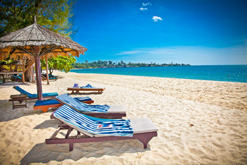 Beautiful tropical beach in Sihanoukville, Cambodia .