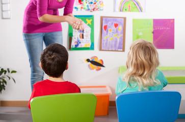 Studying in kindergarden