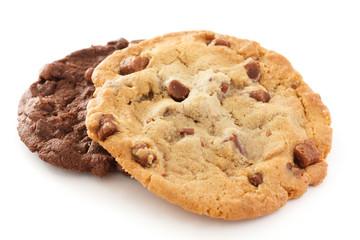 Foto op Aluminium Koekjes Large light chocolate chip cookie