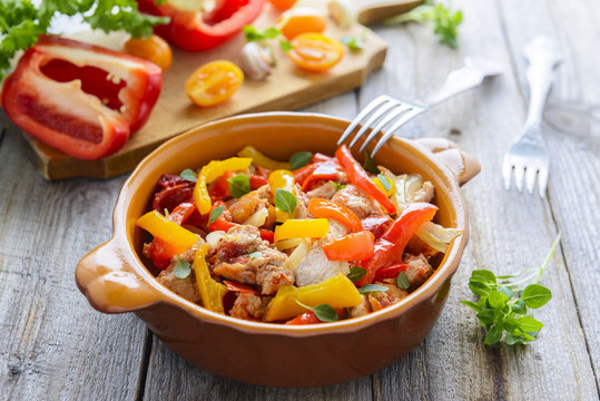 Ragout from turkey and vegetables