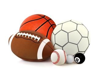 Sport Balls over White