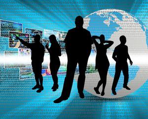 People in cyberspace
