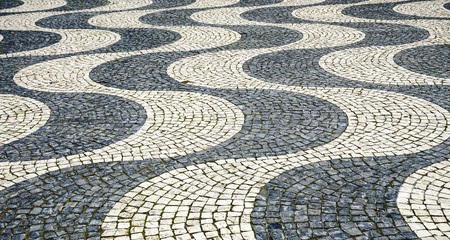 Tile floor in Lisbon, Portugal