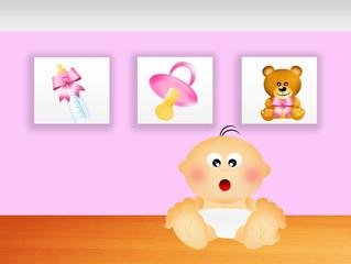 Illustration of newborn