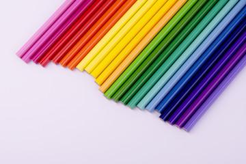 rainbow from pencils