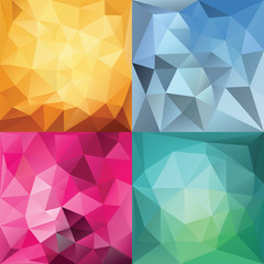 Polygonal Geometric backgrounds.