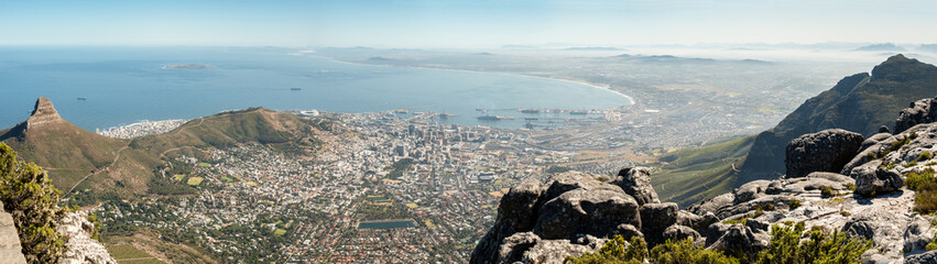 Staande foto Zuid Afrika Cape Town panoramic view, Table Mountain, South Africa