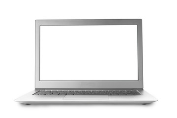 Isolated notebook with blank screen