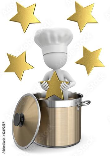 Koch im topf mit 5 sterne stockfotos und lizenzfreie for Koch 2 sterne deutschland
