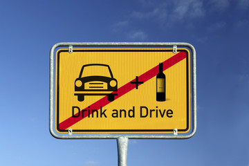 Schild Drink and Drive