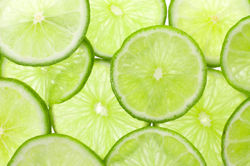 Fresh Ripe Lime, Isolated on White Background.