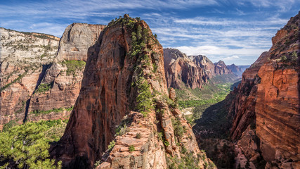 Spectacular hike to Angel's Landing in Zion national park, Utah